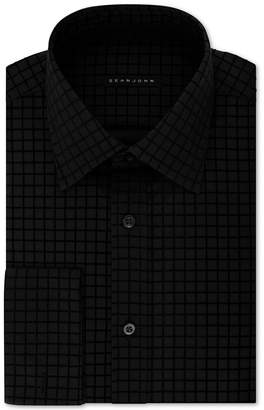 Sean John Men's Big & Tall Classic/Regular-Fit Check French Cuff Dress Shirt