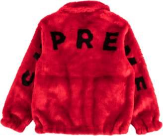 Supreme Faux Fur Bomber Jacket - Red