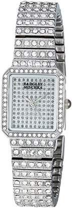 Badgley Mischka Women's BA/1383SVSV Swarovski Crystal Accented -Tone Bracelet Watch