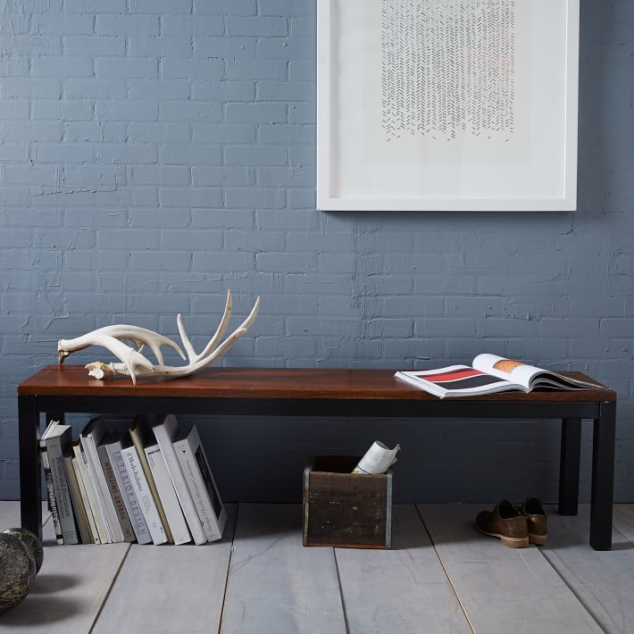 west elm Metal + Wood Benches