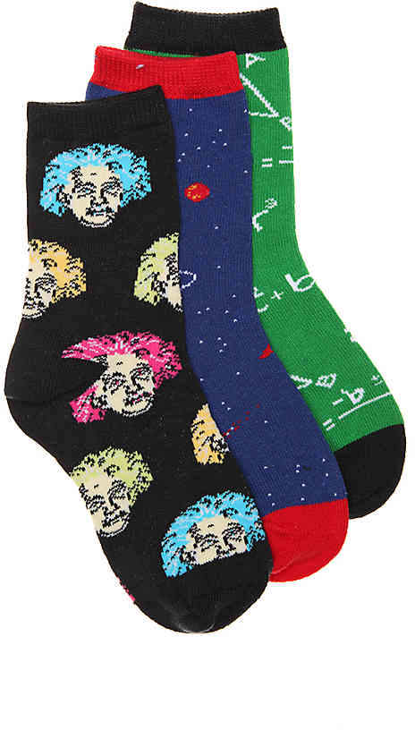 Socksmith Relatively Awesome Toddler & Youth Crew Socks - 3 Pack - Boy's