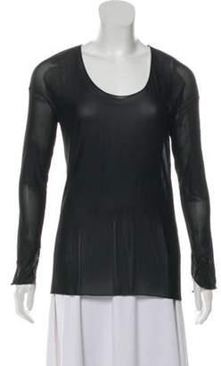 Aviu Scoop Neck Long Sleeve Top w/ Tags Black Scoop Neck Long Sleeve Top w/ Tags