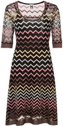 M Missoni chevron stitched dress