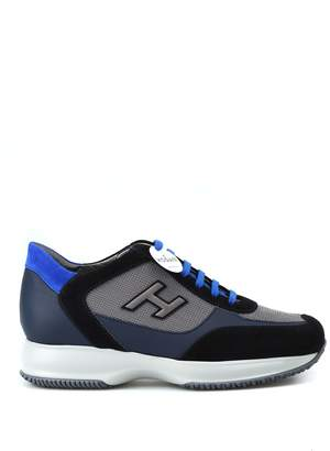 Hogan New Interactive H Flock Dark Blue Sneakers