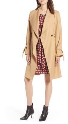 Halogen Tie Sleeve Trench Coat