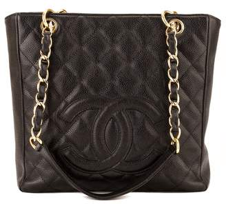 Chanel Black Quilted Caviar Petit Shopping Tote PST (3996006)