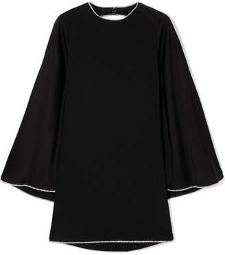 Sonia Rykiel Crystal-embellished Open-back Satin Mini Dress - Black