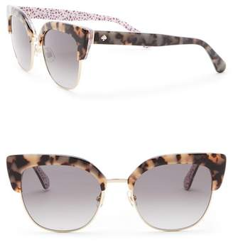 Kate Spade Karri 53mm Clubmaster Sunglasses