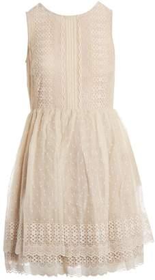 RED Valentino Beige Silk Dresses