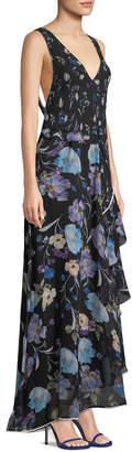 3.1 Phillip Lim Sleeveless V-Neck Floral-Print Silk Maxi Dress
