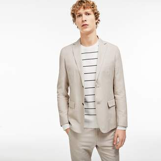 Lacoste Men's Thick Cotton And Linen Blazer