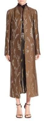 Suno Lurex Floral Maxi Coat