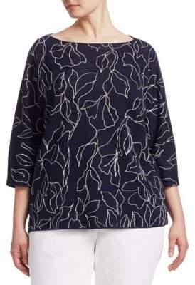 Lafayette 148 New York Lafayette 148 New York, Plus Size Jacquard Knit Sweater