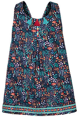 Fat Face Girls' Holly Jungle Top, Navy