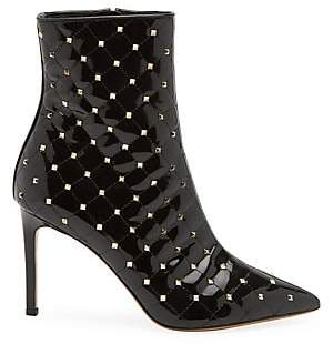 Valentino Women's Rockstud Spike Patent Leather Ankle Boots
