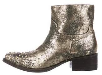 Zadig & Voltaire Metallic Ankle Boots