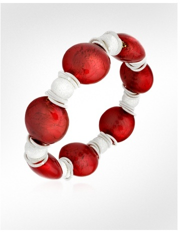 Forzieri Odette - Murano Glass and Sterling Silver Bead Bracelet