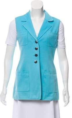 Chanel Notch-Lapel Button-Up Vest