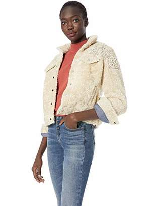 Lucky Brand Women's Sherpa Tomboy Trucker Jacket