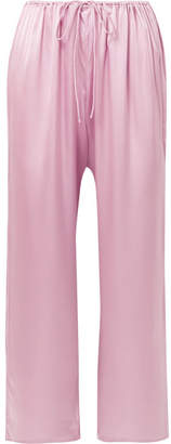 Skin - Roseta Stretch-silk Satin Pajama Pants - Baby pink