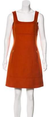 Michael Kors Sleeveless Virgin Wool & Angora-Blend Dress