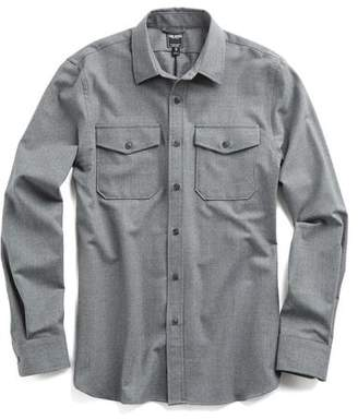 Todd Snyder Italian Wool Shirt Jacket in Grey