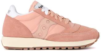 Saucony Jazz Vintage Peach Pink Fabric And Suede Sneaker