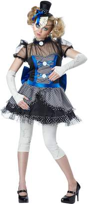 California Costumes Women's Twisted Baby Doll Costume, Blue/Black