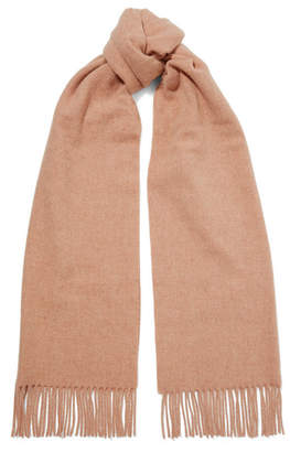 Acne Studios Canada Narrow Fringed Wool Scarf - Antique rose