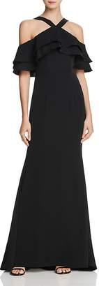 Jarlo Dianne Cold-Shoulder Gown
