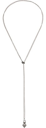King Baby Studio - Bolero Necklace w/ Micro Rolo Chain Pave Crowned Heart Necklace $255 thestylecure.com