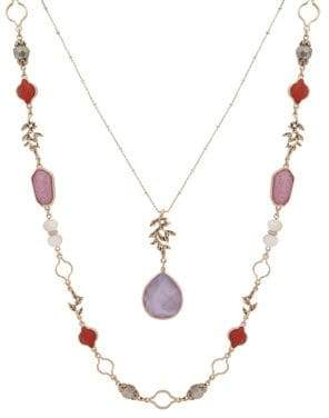 lonna & lilly Two-Row Beaded Pendant Necklace