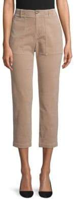 Joie Painter Cropped Cotton Chino Pants