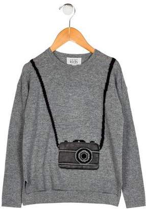 Autumn Cashmere Boys' Wool Camera Sweater w/ Tags