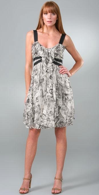 Diane von Furstenberg Ragazza Printed Chiffon Dress