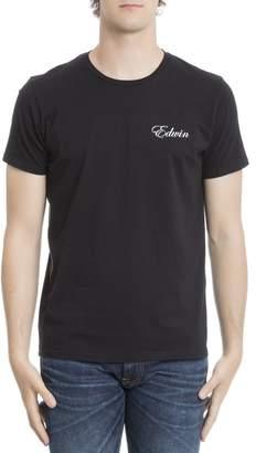 Edwin Black Cotton T-shirt