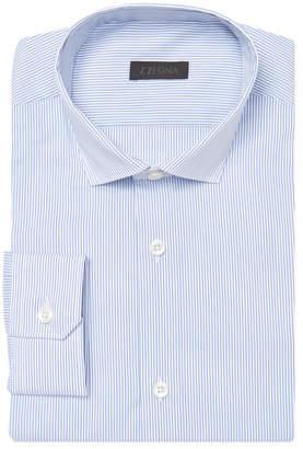 Z Zegna Men's Stripe Cotton Dress Shirt