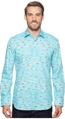 Bugatchi Shaped Fit Speed Boat Woven Shirt Men's Long Sleeve Pullover