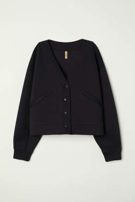 H&M Scuba-fabric Cardigan - Black