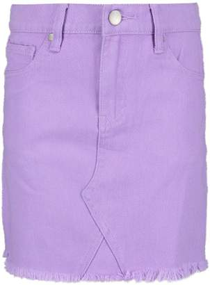 boohoo Girls Frayed Edge Mini Skirt