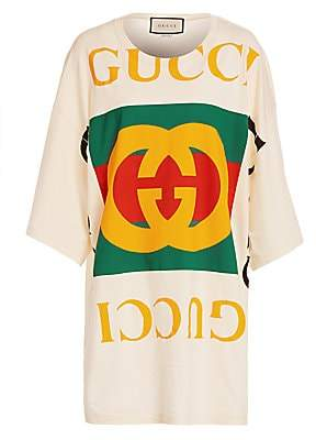 Gucci Women's Oversized Logo Tee Beach Cover-Up