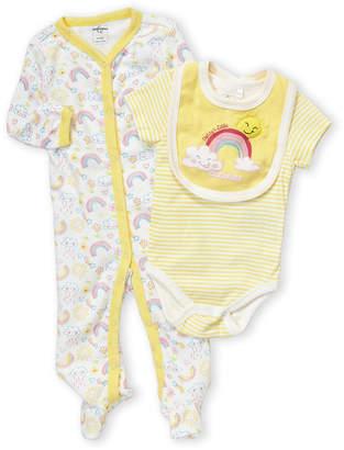 Baby Essentials Quiltex (Newborn Boys) 3-Piece Daddy's Little Sunshine Bodysuit & Footie Set