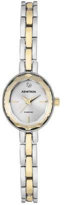Armitron Ladies Dress Two Tone Bracelet Round Watch