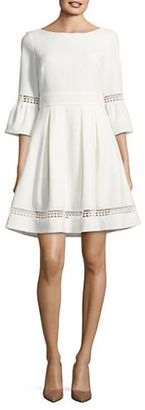 Eliza J Textured Fit-and-Flare Dress $138 thestylecure.com