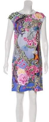 Mary Katrantzou Printed Mini Shift Dress w/ Tags