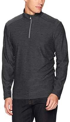 Calvin Klein Men's Quarter Zip Space Dye Pullover Sweater
