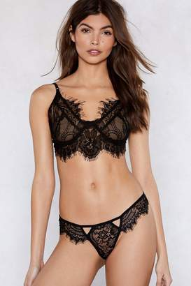 Nasty Gal Go At My Lace Bralette and Panty Set