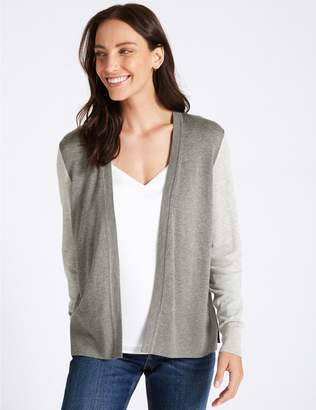 Marks and Spencer Colour Block Open Front Cardigan