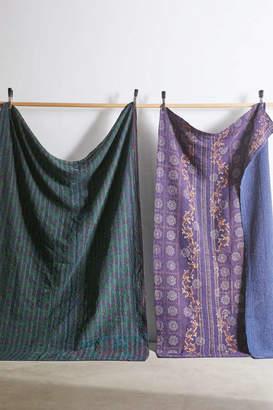 Urban Renewal Vintage One-Of-A-Kind Overdyed Kantha Throw Blanket