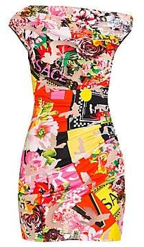 Versace Women's Floral Mania Stretch Jersey Devore Dress